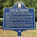 Image for Lynching Targeting Black Sharecroppers - Mt Willing, AL