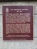 Image for PHYSIOLOGY/MEDICINE - Sir Frederick Banting 1923 - Toronto Ontario