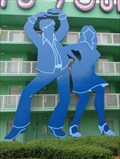 Image for Giant Dancers - Disney's Pop Century Resort - Florida, USA.
