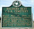 Image for Soldiers Rest CSA Cemetery - Vicksburg, MS