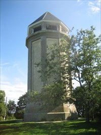 This is taken very close to the tower.  The base is easily accessible when the park is open.