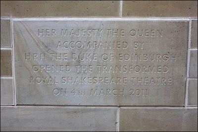 Stone to mark the re-opening by the Queen