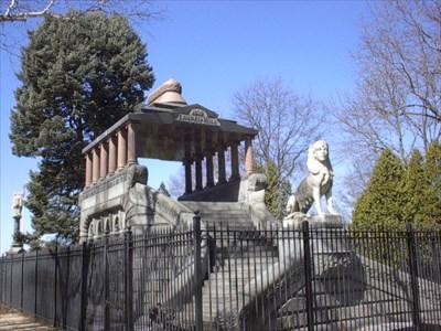 Spinx Sculptures Barney Mausoleum Springfield Ma
