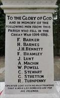 Image for John 15:13 - World War I Memorial - Fairburn, UK