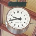 Image for Clock at the Masaryk railway station - Prague, Czechia