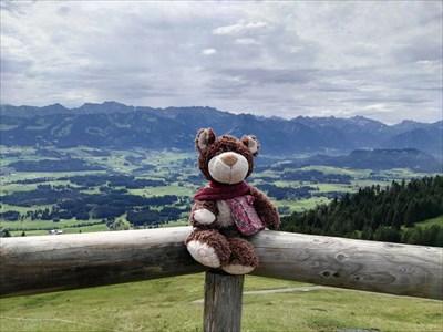 Schöner Blick ins Illertal und auf die Oberstdorfer Bergwelt