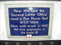 Image for World's First Postmarks Plaque