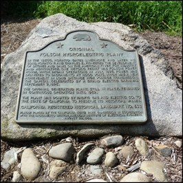 Plaque of the history of the power station