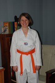 3/12/2010: orange belt promotion, one year of study, 33% towards black belt.
