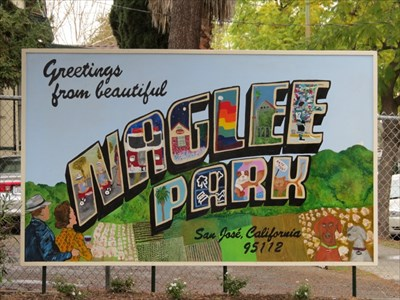 Naglee Park Welcome Sign, San Jose, CA