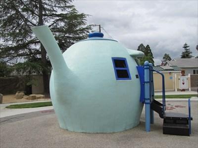 Teapot, left of spout, Children's Wonderland, Vallejo, CA