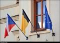 Image for Dolní Brežany - municipal flag on Municipal Office / mestská vlajka na mestském úrade (Central Bohemia)