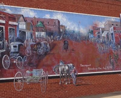 Broadway Mural - Route 66 - Davenport