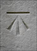 Image for Cut Benchmark, St Peters Church, Wootton Wawen, Warwickshire, UK