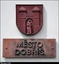 Image for Dobríš CoA on Town Hall / Znak Dobríše na radnici - Dobríš (Central Bohemia)