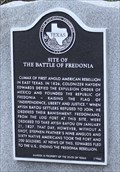 Image for Site of the Battle of Fredonia -- Fredonian Rebellion, E of San Augustine TX