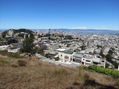 View of Downtown San Francisco from Tank Hill Park, San Francisco, California