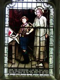 Image for Christ & Scout -  Stained Glass - Wales. Great Britain.