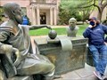 Image for Plato Having a Dialogue with Socrates sit-by-me statue - Hofstra University - Hempstead, New York