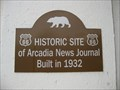 Image for Arcadia News Journal - Arcadia, CA