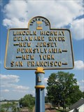Image for New Jersey - Pennsylvania Border Crossing Old Lincoln Highway