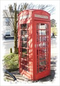 Image for Red Telephone Box - High Street, Wingham, Kent, UK.