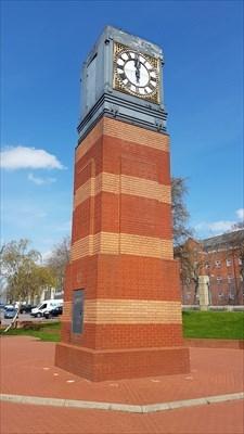 Clock tower - Castle Retail Park - Nottingham, Nottinghamshire ...