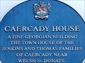 Image for Caercady House - Blue Plaque - Cowbridge, Vale of Glamorgan, Wales.