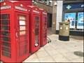 Image for Uxbridge Gold Double Post Box - Uxbridge, UK.