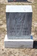 Image for David I. Crawford - Judson Cemetery - Cayuga, TX