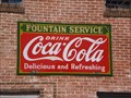 Image for Fountain Service Coke Sign - Rocky Ford, CO