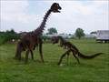 Image for Tecumseh, Michigan - Steel Dino sculpture.