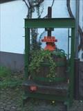 Image for Grape Press near the church in Dernau - RLP / Germany