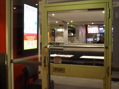 Entering the McDonalds outlet