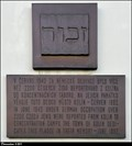 Image for Holocaust memorial tablet on Municipal Information Centre / Pametní deska obetem holocaustu na IC (Kolín, Central Bohemia)