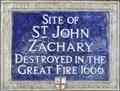 Image for St John Zachary - Gresham Street, London, UK