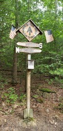Marker contributed by those who hiked the trail in 1985.