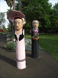 Image for Bollards of Daniel Bunce and Lady - Geelong Botanic Gardens, Victoria, AU