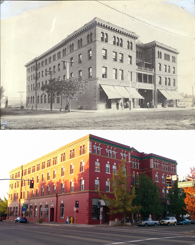 Former Lorenz Hotel Redding Ca Photos Then And Now On Waymarking