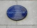 Image for Plaque bleue Antoine de Saint-Exupéry, Québec, Canada
