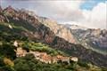 Image for Ota village from Casanova road, Corsica, France