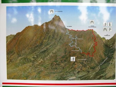 Map over rutes to the top. Can be viewed at car park.