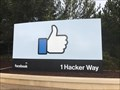 Image for Facebook Thumbs Up Sign - Menlo Park, California