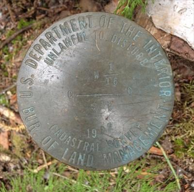Cadastral Survey W 1/16  S 10 1992 - Public Land Survey