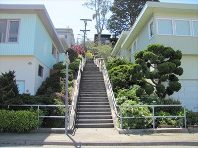Aerial Way Stairs (East), Bottom, San Francisco, CA