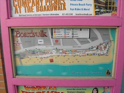 Santa Cruz Beach Boardwalk Map California You Are Here Maps On Waymarking