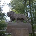 Image for Lion statue on monument to victims WWI - Kacice, Czechia
