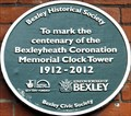 Image for Bexleyheath Coronation Memorial Clock Tower - 100 years - Broadway, Bexleyheath, London, UK