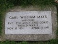 Image for Carl William Mays, Major League Baseball Player