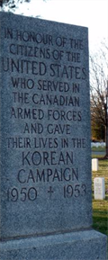Image for Korean War - Canadian Cross of Sacrifice - Arlington National Cemetery - Arlington, VA